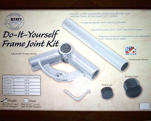 Diy frame kit montana canvas for Homemade wall tent frame