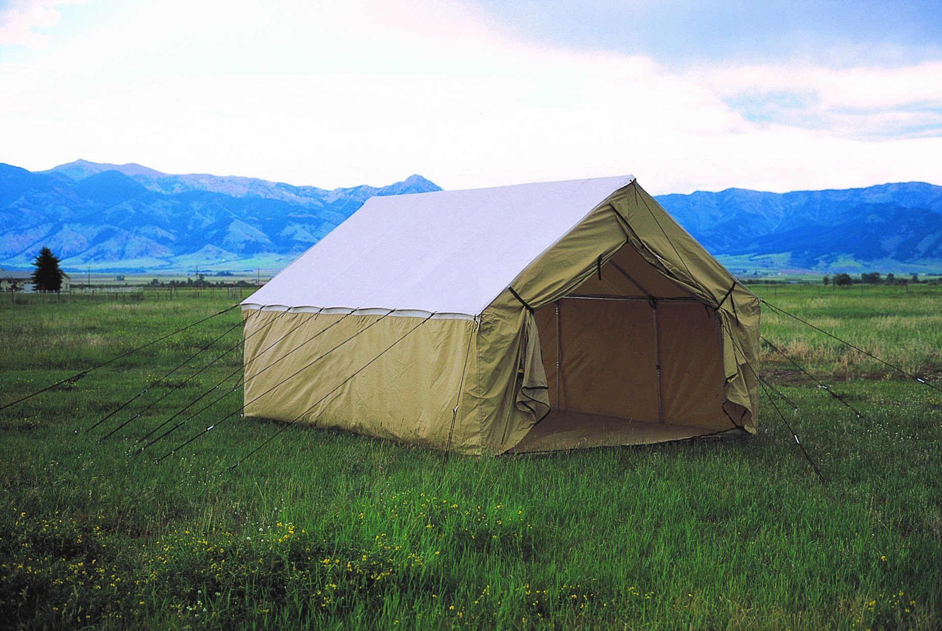 Montana blend wall tent montana canvas for Canvas wall tent reviews