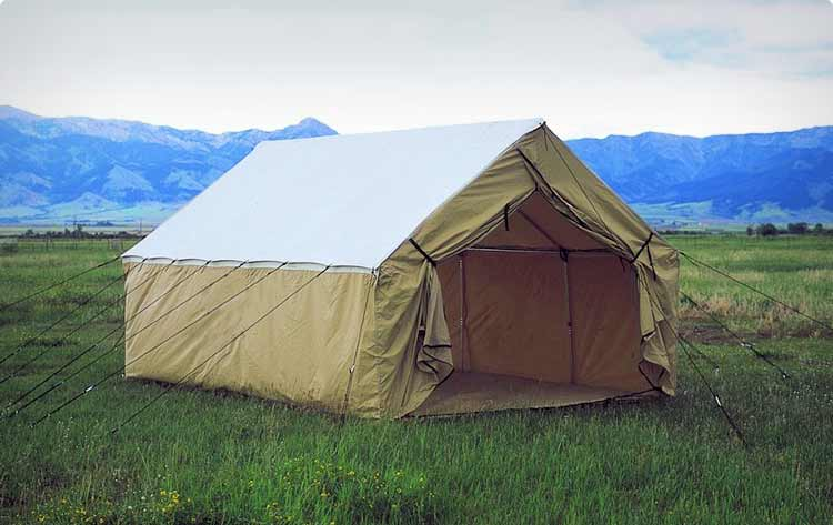 Wall tents montana canvas for Homemade wall tent frame